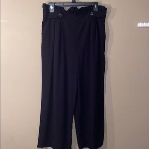 Women's Black Xhilaration Wide Cropped Dress pants